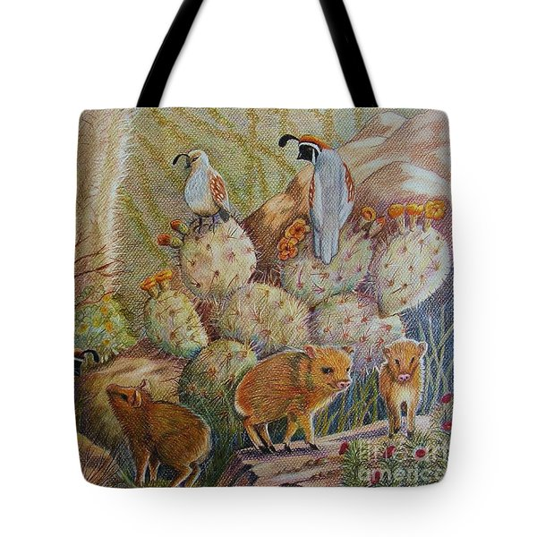 Three Little Javelinas Tote Bag