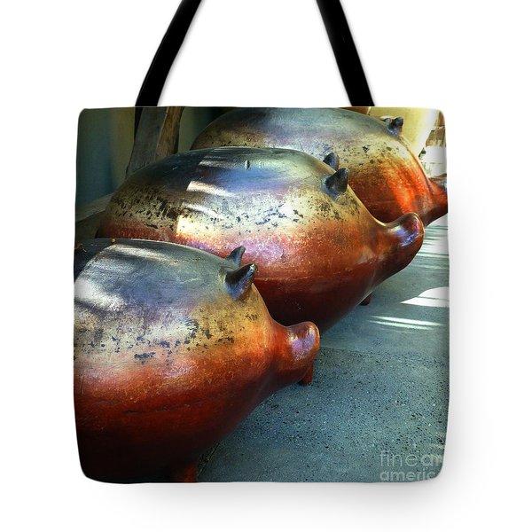 Three Little Piggies Tote Bag