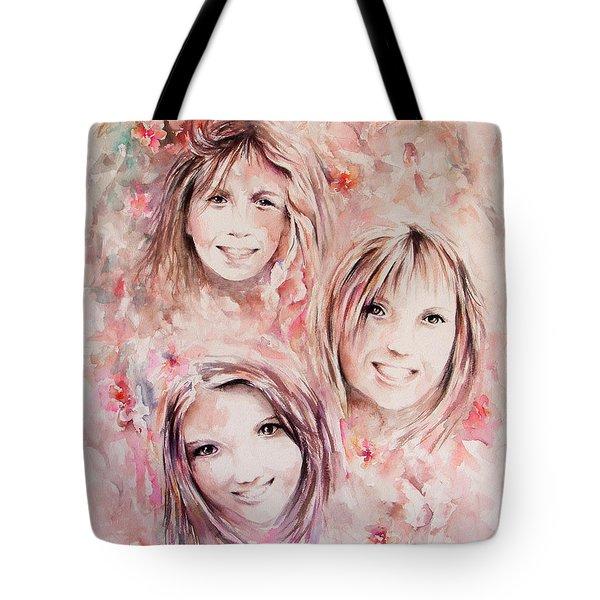Three Miracles Tote Bag by Rachel Christine Nowicki