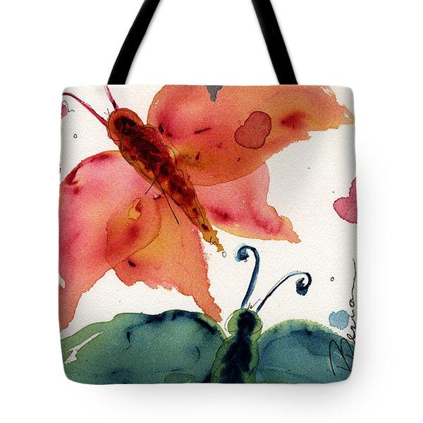 Three Moths II Tote Bag by Dawn Derman