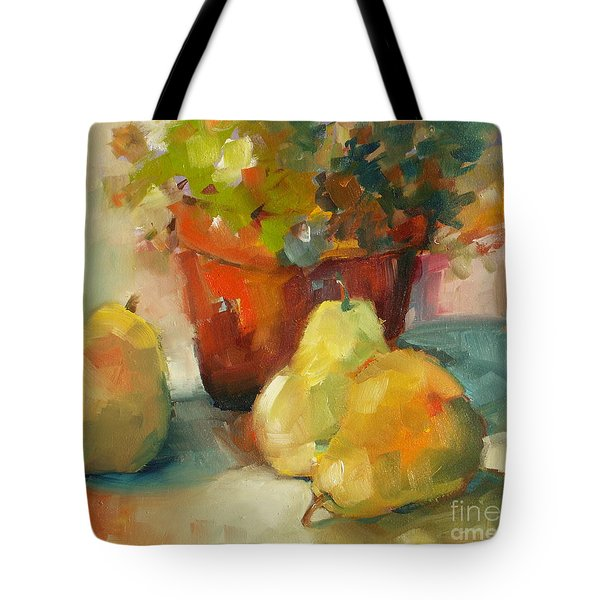 Three Pears And A Pot Tote Bag