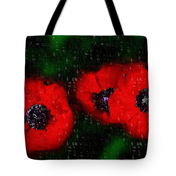 Three Poppies Tote Bag