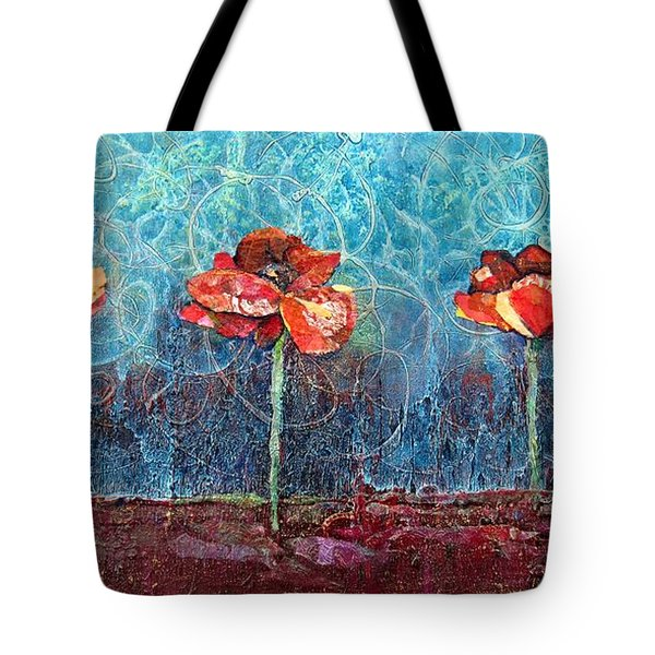 Three Poppies Tote Bag by Shadia Derbyshire