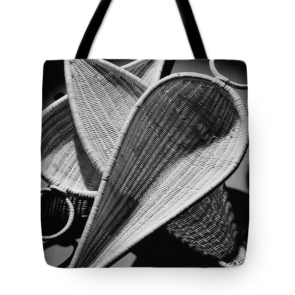 Three Reed Baskets Tote Bag
