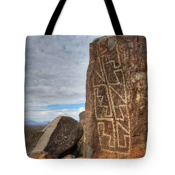 Three Rivers Petroglyphs 4 Tote Bag by Bob Christopher