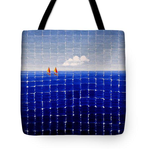 Three Sail Boats #2 Tote Bag