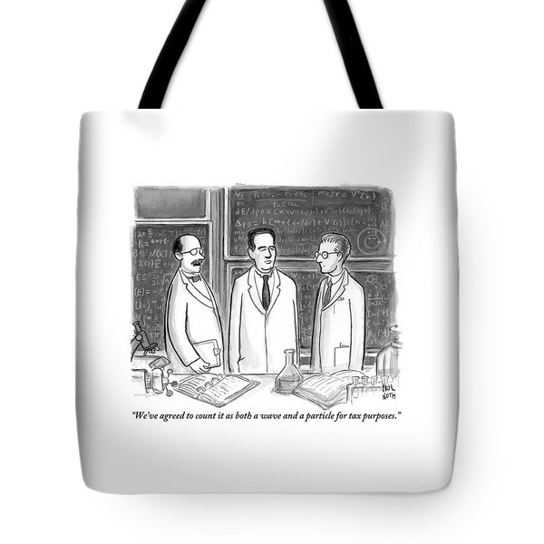 Three Scientists In A Lab Tote Bag