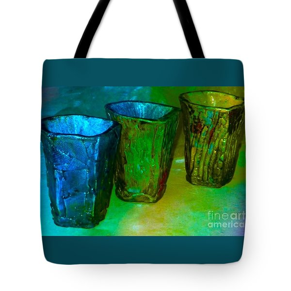 Three Smoke Fired Vases Tote Bag by Joan-Violet Stretch