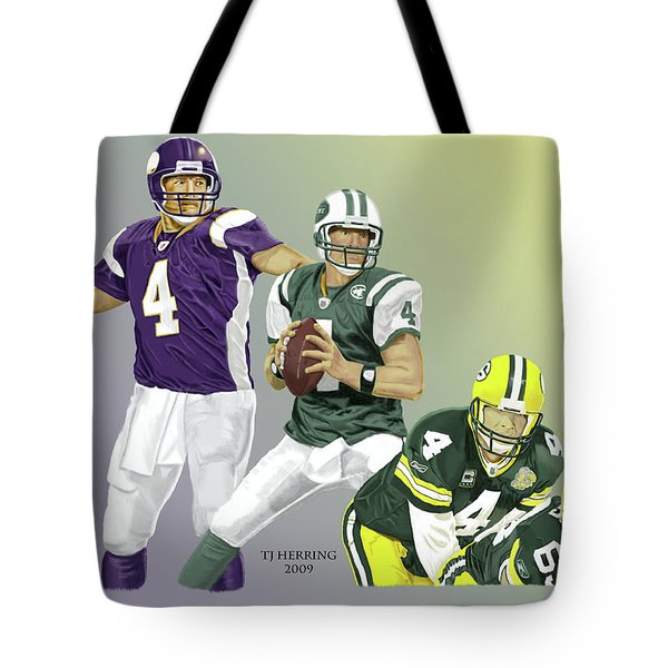 Three Stages Of Bret Favre Tote Bag