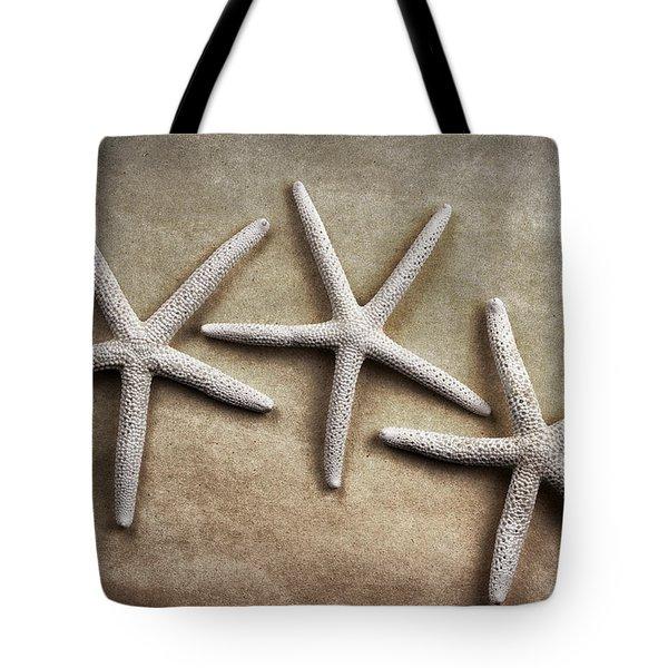 Three Starfish Tote Bag