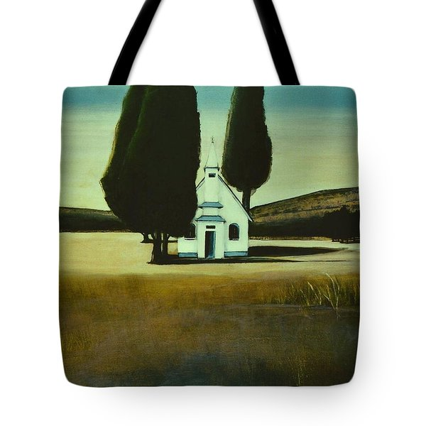 Three Trees And A Church Tote Bag