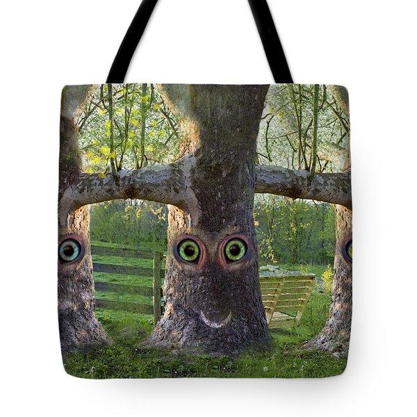 Three Trees Tote Bag by Betsy Knapp