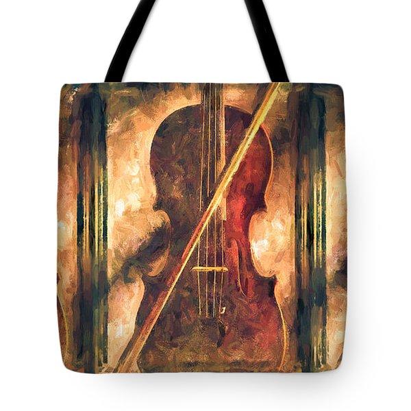 Three Violins Tote Bag by Bob Orsillo