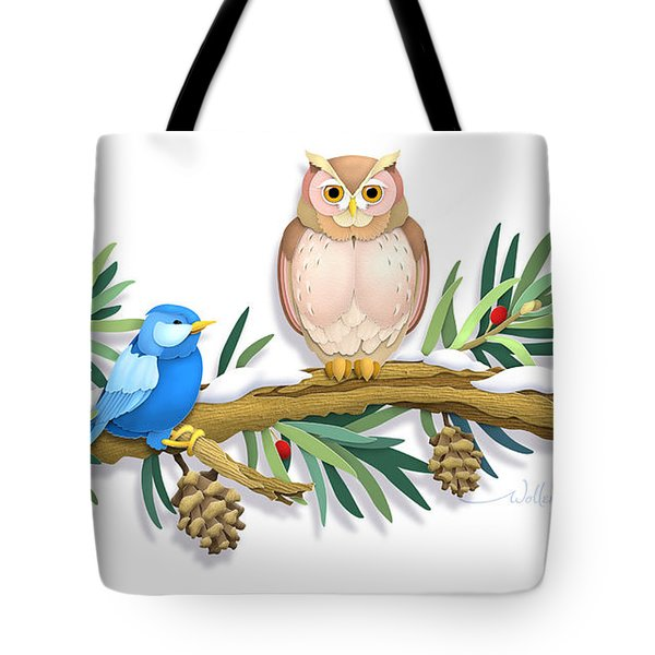 Three Watchful Friends Tote Bag
