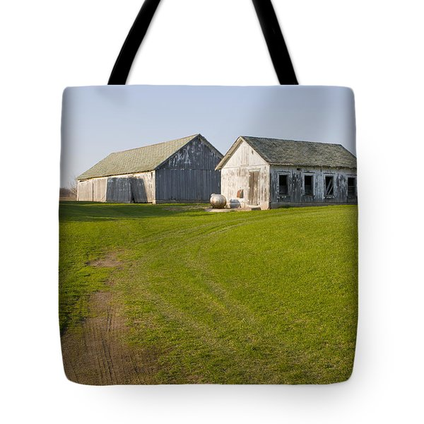 Three Weathered Farm Buildings Tote Bag
