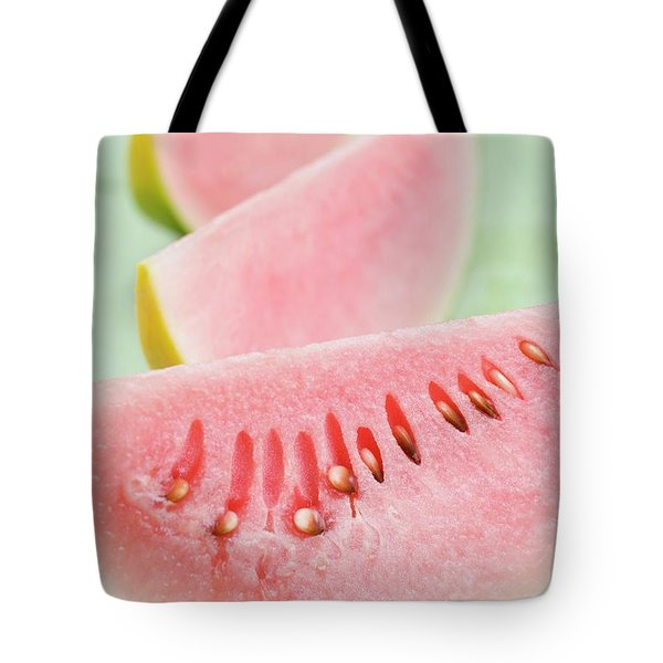 Three Wedges Of Watermelon Tote Bag