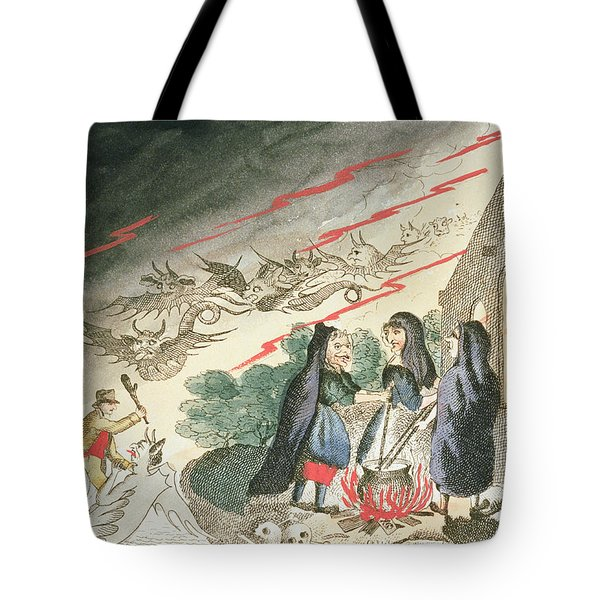 Three Witches In A Graveyard, C.1790s Tote Bag