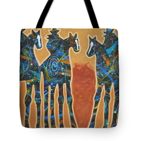 Three With Rope Tote Bag