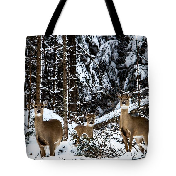 Three's A Crowd Tote Bag