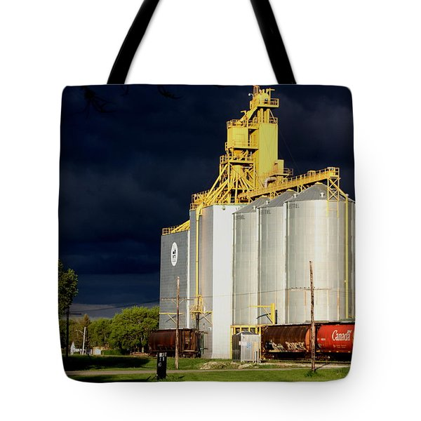 Threatening Thunder  Clouds Over Elevator Tote Bag