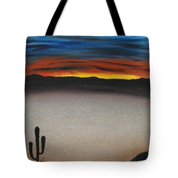 Thriving In The Desert Tote Bag by Sayali Mahajan