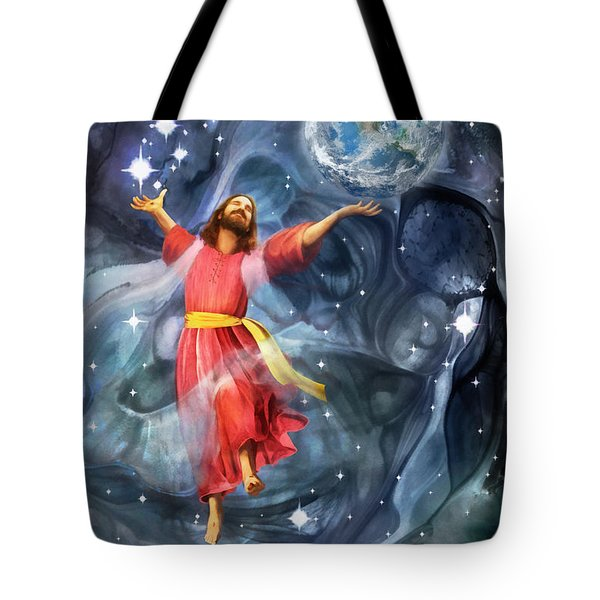 Through Him Tote Bag