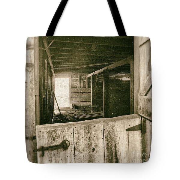 Through The Barn Door Tote Bag