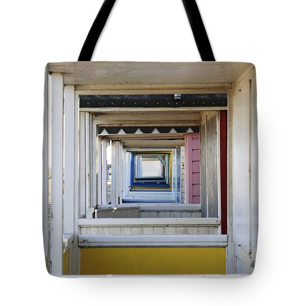 Through The Beach Huts Tote Bag