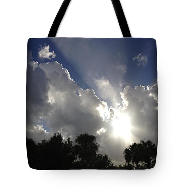 Through The Clouds Tote Bag by K Simmons Luna