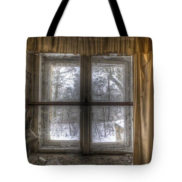 Through The Dirty Window Tote Bag by Nathan Wright