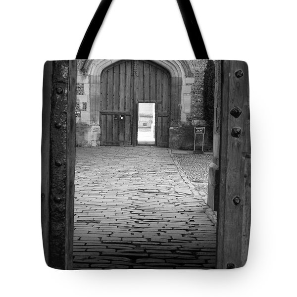 Tote Bag featuring the photograph Through The Door by Meaghan Troup