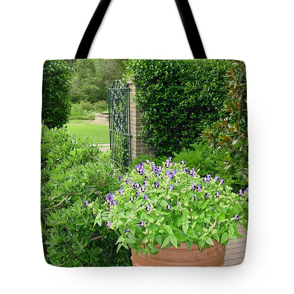 Through The Garden Gate Tote Bag by Suzanne Gaff