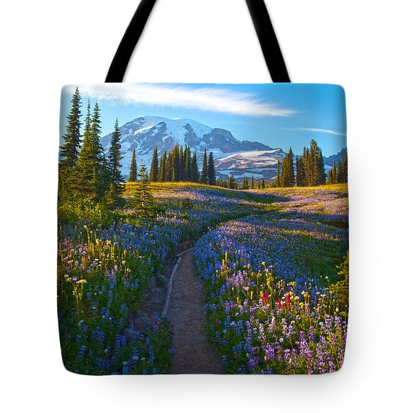 Through The Golden Meadows Tote Bag by Mike Reid