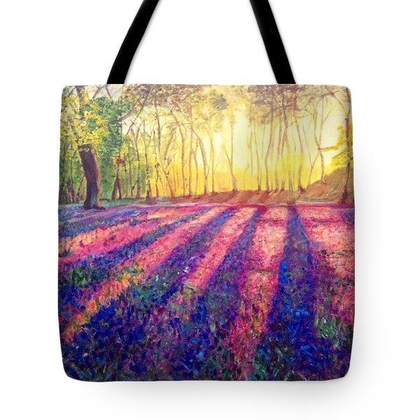 Tote Bag featuring the painting Through The Light by Belinda Low