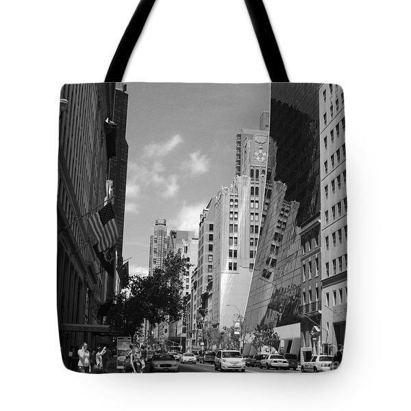 Tote Bag featuring the photograph Through The Looking Glass In Black And White by Meghan at FireBonnet Art