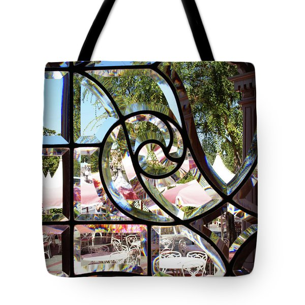 Through The Looking Glass Tote Bag by Linda Shafer