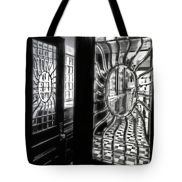 Through The Lookinglass And Onto The Checkerboard Tote Bag
