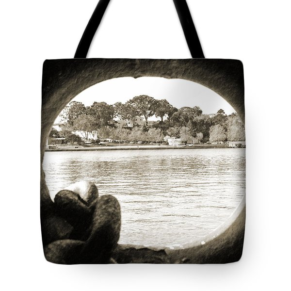 Through The Porthole Tote Bag by Holly Blunkall