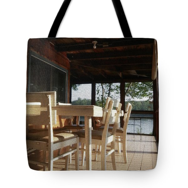 Through The Screen No 1 Tote Bag