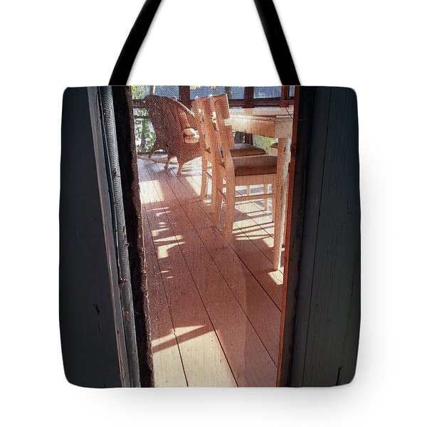 Through The Screen No 2 Tote Bag