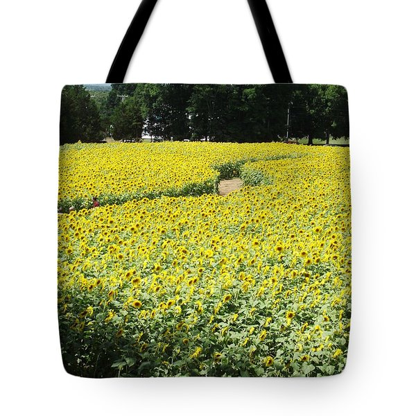 Through The Sunflowers Tote Bag by Michelle Welles