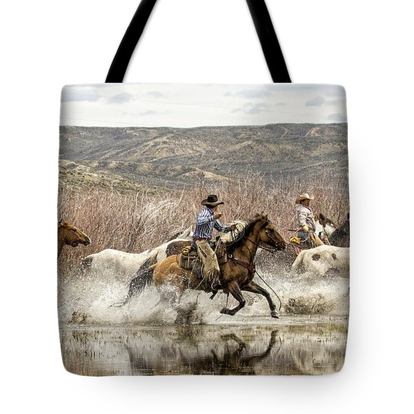 Through The Water I Tote Bag by Joan Davis