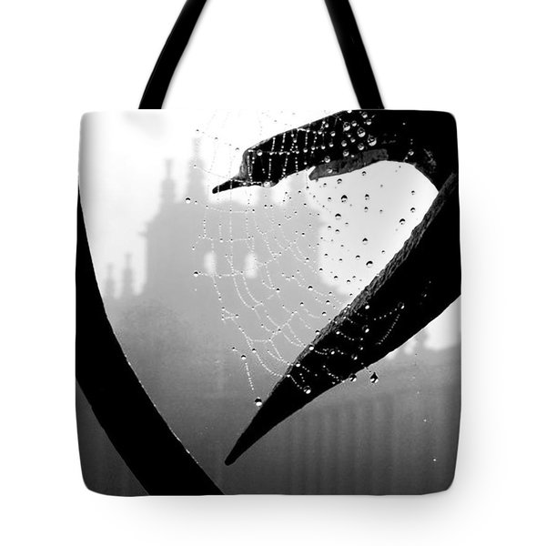 Tote Bag featuring the photograph Through The Web by Meaghan Troup