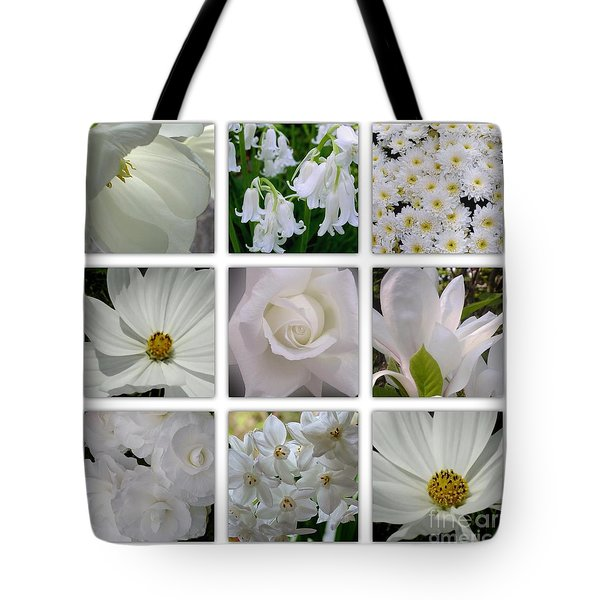 Through The White Picture Window Tote Bag