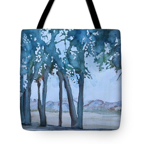 Through The Wind Break Tote Bag by Jenny Armitage