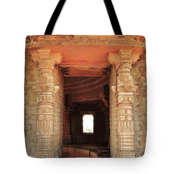 When Windows Become Art - Jain Temple - Amarkantak India Tote Bag by Kim Bemis