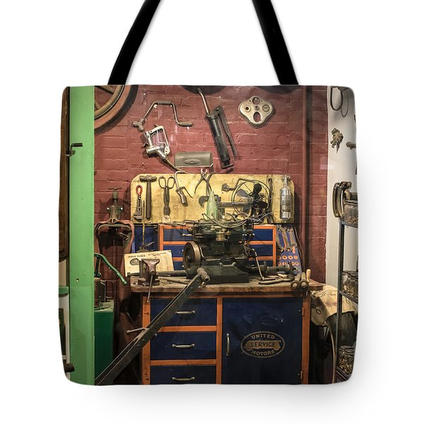 Garage Of Yesteryear Tote Bag