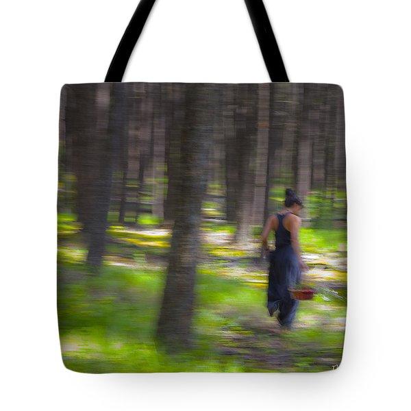 Through The Woods 2 Tote Bag by Theresa Tahara