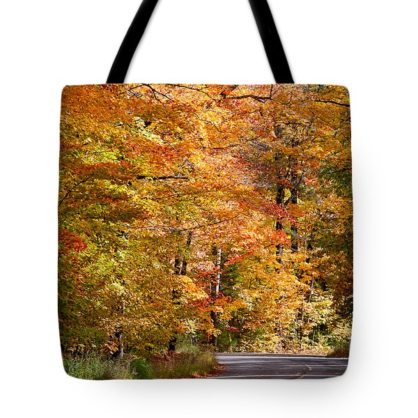 Tote Bag featuring the photograph Through The Woods By D. Perry Lawrence by David Perry Lawrence