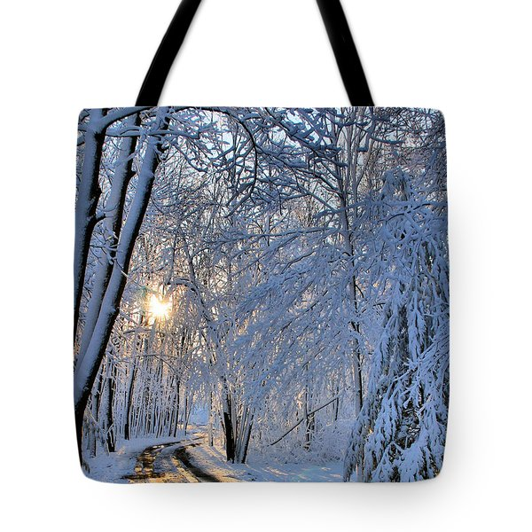 Through The Woods Tote Bag by Kristin Elmquist